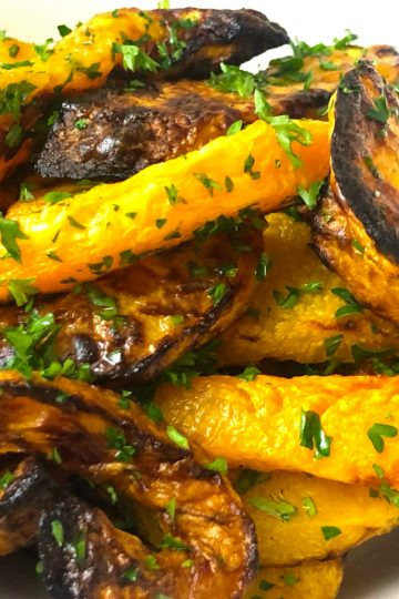 air fryer butternut squash and parsley