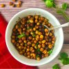 air fryer chickpeas with cilantro
