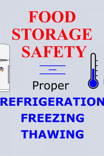 Feature Image for article: Food Storage Safety: Proper Refrigeration and Thawing
