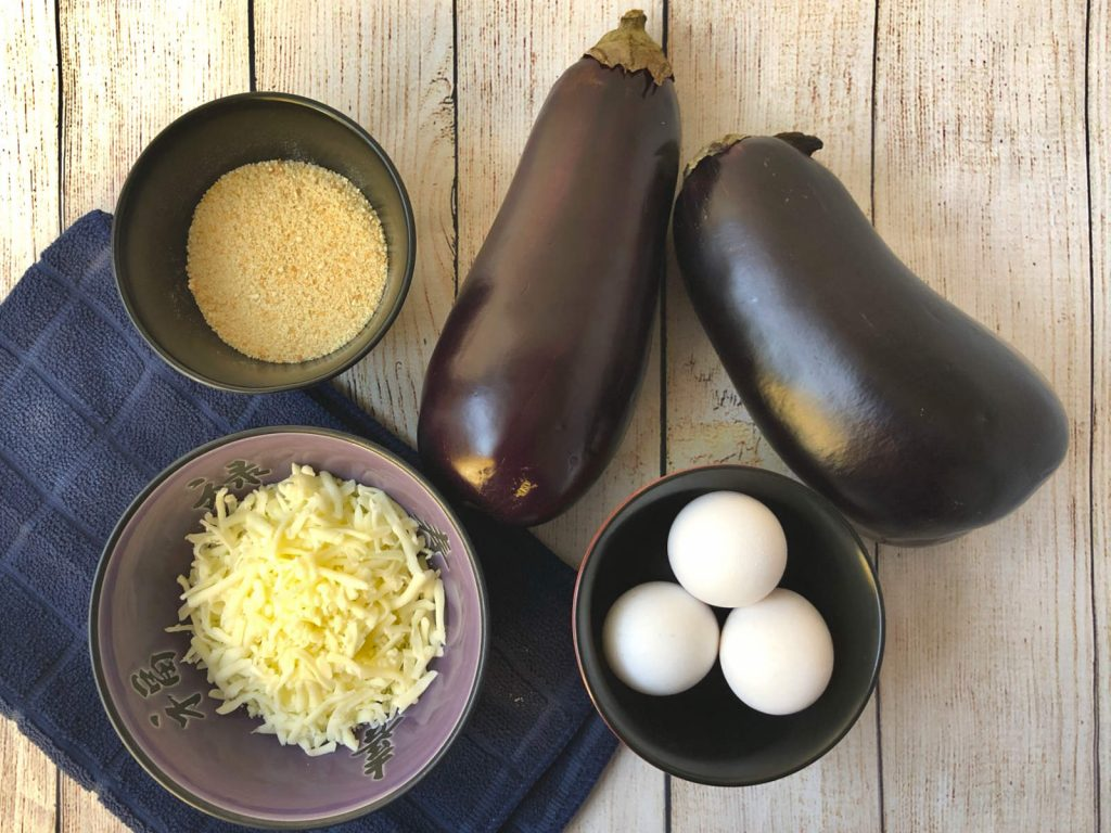 ingredients for breaded air fryer eggplant parm