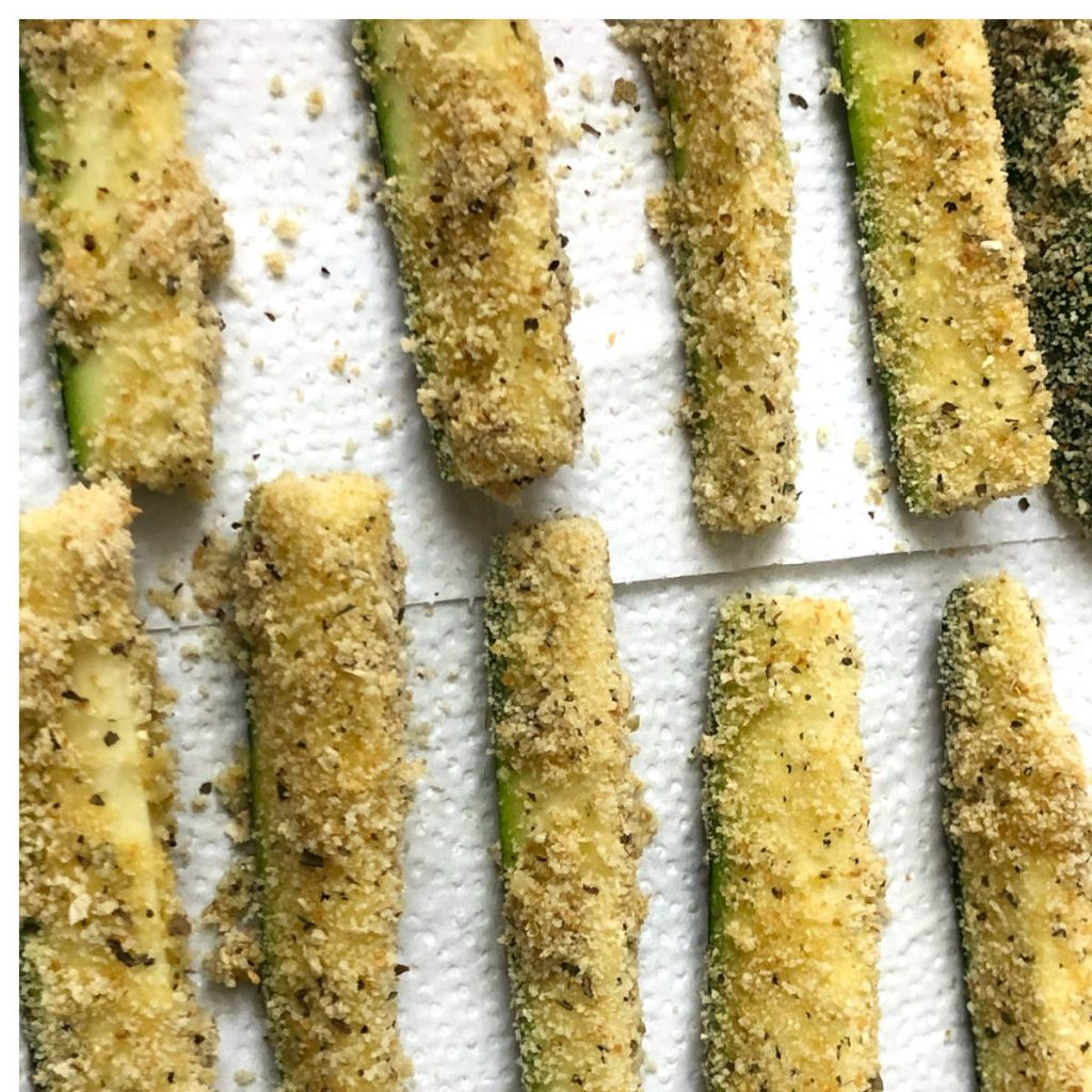 breaded zucchini sticks for air fryer