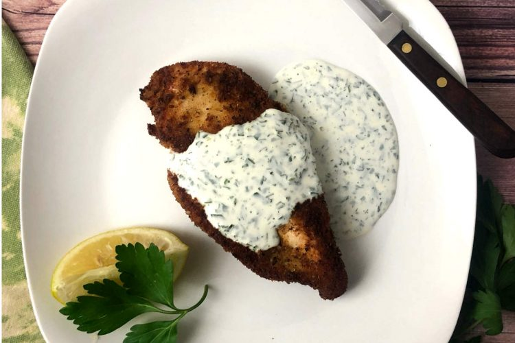 italian chicken cutlet with lemon herb sauce