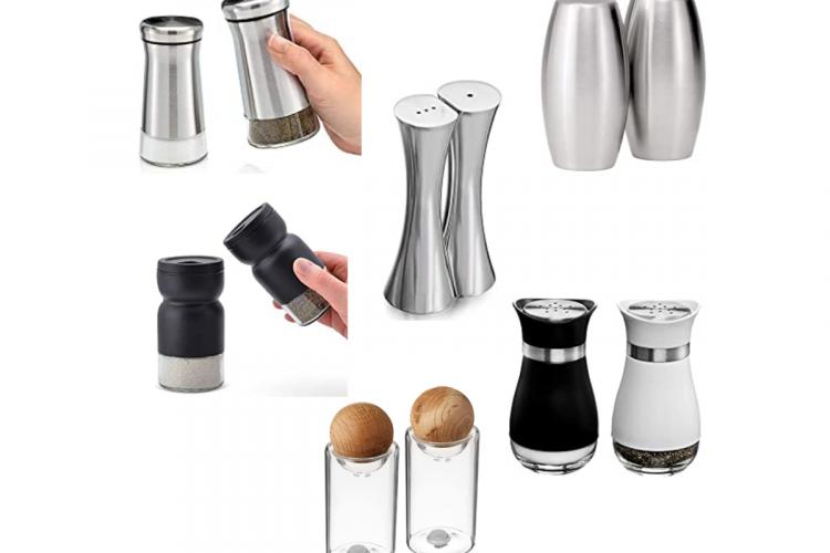 modern salt and pepper shakers