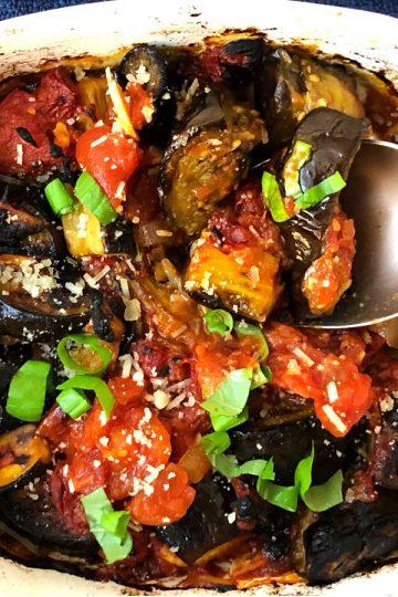eggplant with tomato sauce