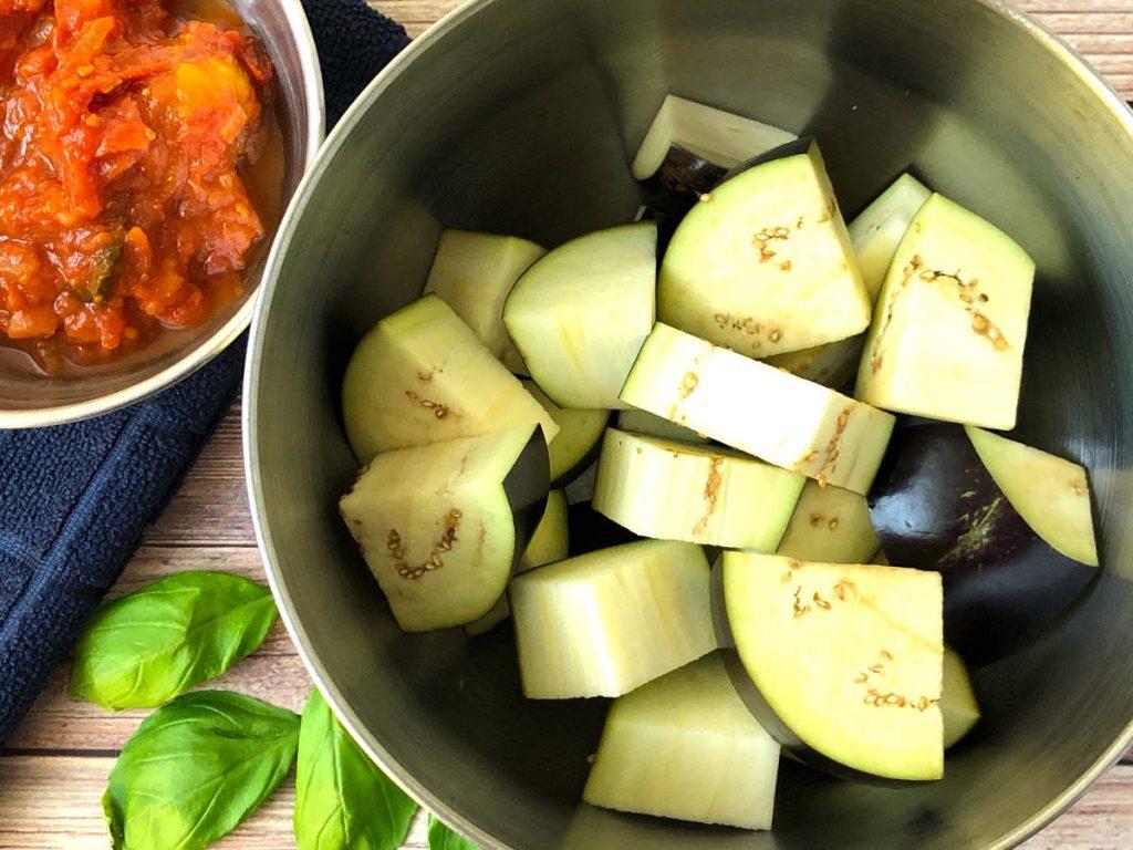 eggplant with marinara sauce