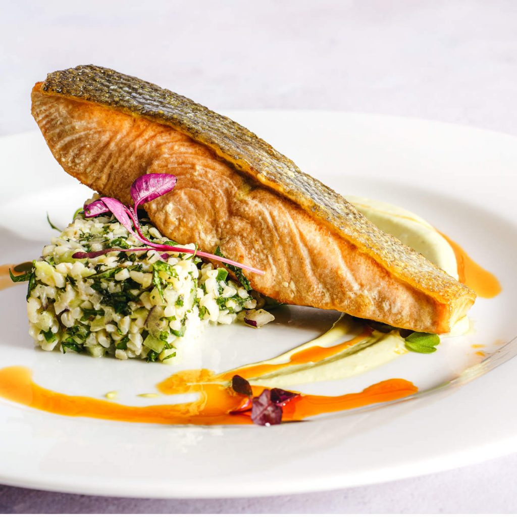 do you eat salmon skin? pan seared salmon filet skin on