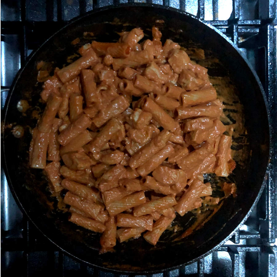 pasta with rose sauce
