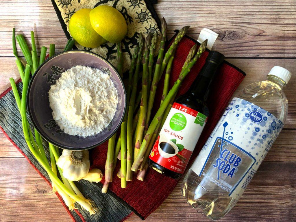 ingredients for veggie tempura