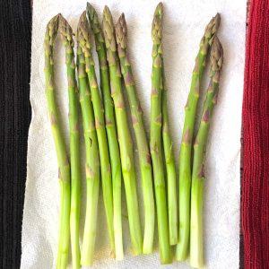 peeled asparagus for vegetable tempura