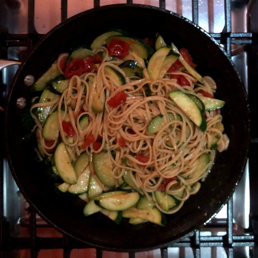 zucchini and pasta