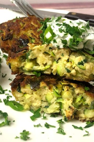 zucchini crab cakes