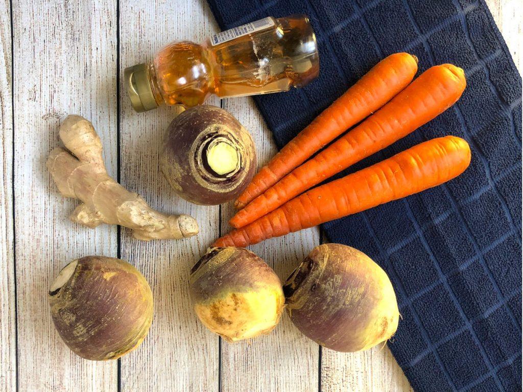 ingredients for rutabaga puree